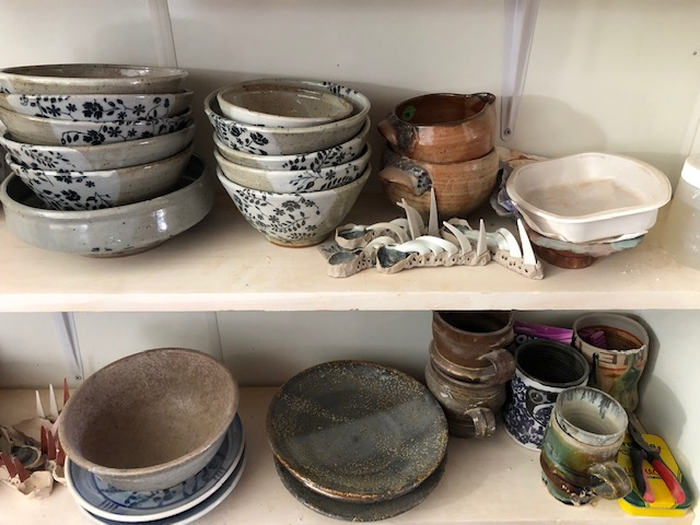 Some of Marie's pots